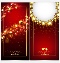 Red luxury christmas invitation card vector