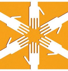 Ring of hands vector