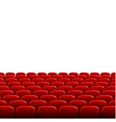 Rows red cinema or theater seats in front of vector