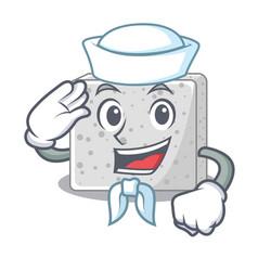 Sailor feta cheese character cartoon vector