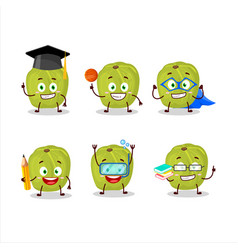 School student amla with various expressions vector
