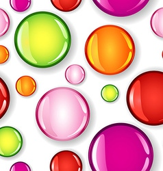 Seamless glossy circles different size and color vector image