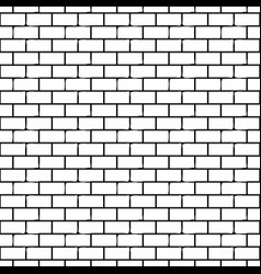 seamless monochrome pattern with bricks vector image