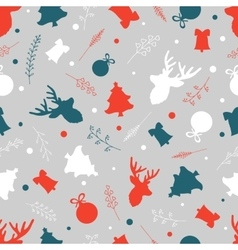 Seamless pattern for your Christmas design vector image
