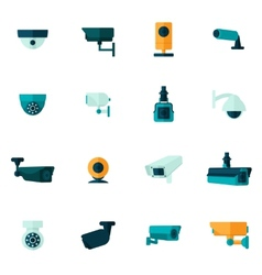 Security Camera Icon Flat vector image
