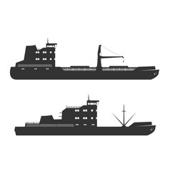 Ships silhouettes vector