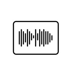 sound impulse icon vector image