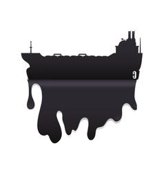 Splash ship petroleum oil industry icon vector