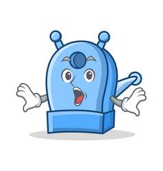 Surprised pencil sharpener character cartoon vector