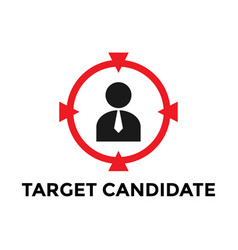 target employee icon design template isolated vector image