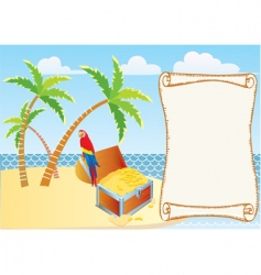 treasure island background vector image