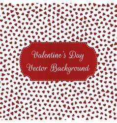 Valentines Day Hearts Pattern on white Background vector image