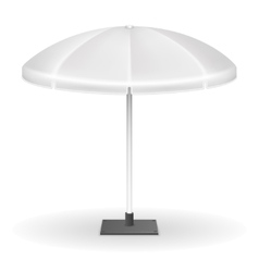 White outdoor tent umbrella or parasol stand vector image