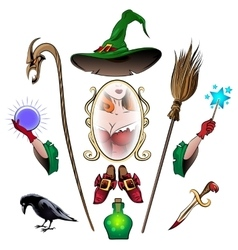 Witch Accessories Set vector