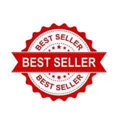 best seller grunge rubber stamp on white vector image