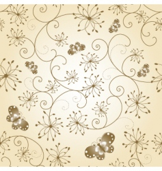 floral butterfly seamless pattern vector image