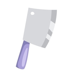 Kitchen ax knife cleaver cutter with handle sharp vector image