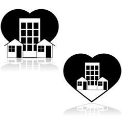 Love the neighborhood vector image vector image