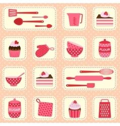 pattern on baking theme vector image