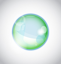 Pearl bubble ball isolated on white background vector image