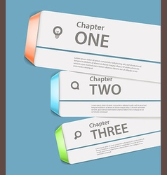 Website paper page design template vector image vector image