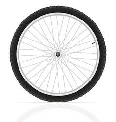 bicycle wheel 01 vector image vector image