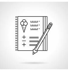 Birthday party checklist flat line icon vector image