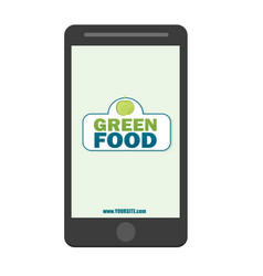 healthy food - green food logo template healthy vector image
