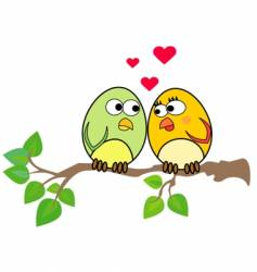 love birds vector image vector image