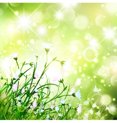 Magic Flower Meadow vector image vector image