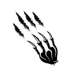 monster claws and claws marks vector image