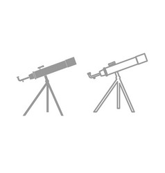 telescope the grey set icon vector image vector image