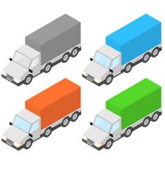 trucks isometric vector image