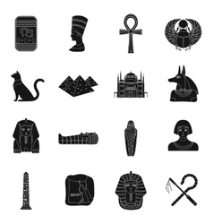 Ancient egypt set icons in black style big vector