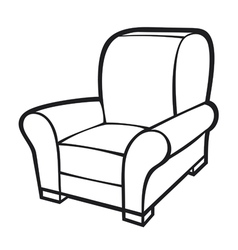 armchair - leather tub chair vector image vector image