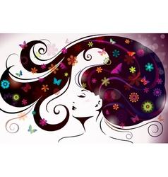 beautiful style woman vector image