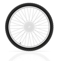 bicycle wheel 02 vector image vector image