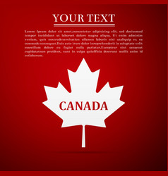 canadian maple leaf with city name canada vector image vector image