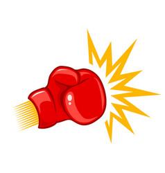 retro logo for boxing vector image vector image