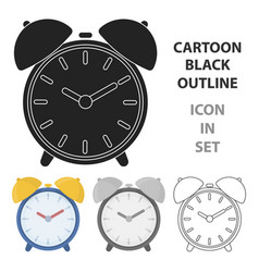 alarm clock icon in cartoon style isolated on vector image vector image
