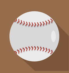 ball for playing baseball icon flat style vector image