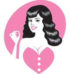pinup girl portrait vector image