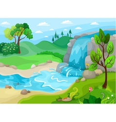 vodopad vector image