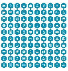 100 inn icons sapphirine violet vector