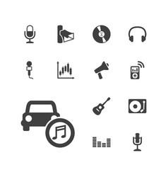 13 audio icons vector