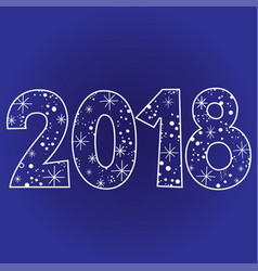 2018 new year two thousand eighteen vector