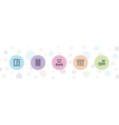 5 window icons vector