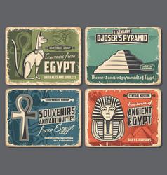 Ancient egypt souvenirs shop egypt tourism travel vector