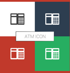 Atm icon white background vector