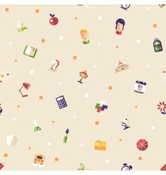 Back to school flat design icons seamless pattern vector